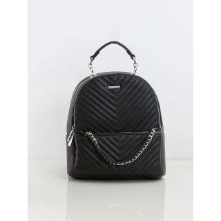 Black women´s eco-leather backpack Neurčeno One size