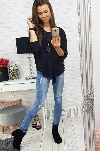 Black womens blouse RY0424 dámské Neurčeno One size