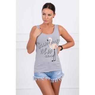 Blouse Summer Vibes gray dámské Neurčeno One size