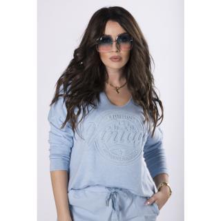 blouse with an embossed print dámské Neurčeno One size