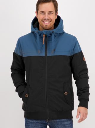 Blue and black mens winter jacket Alife and Kickin pánské černá S