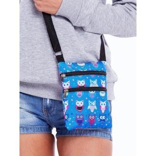 Blue fabric sachet with owls dámské Neurčeno One size