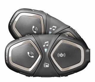 Bluetooth handsfree pro uzavřené a otevřené přilby CellularLine Interphone CONNECT, Twin Pack