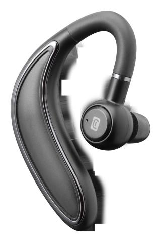 Bluetooth headset Cellularline Bold v ergonomickém tvaru black