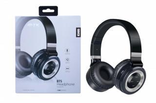 Bluetooth sluchátka PLUS K3405, s mikrofonem, FM rádiem a čtečkou pro microSD kartu
