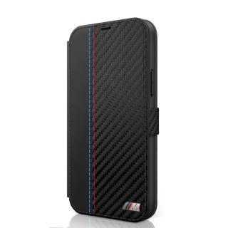 BMW Carbon Contrast flipové pouzdro BMFLBKP12SMCARBK Apple iPhone 12 mini black