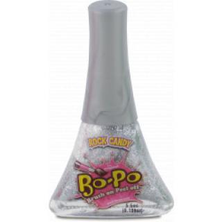 BO-PO lak na nehty stříbrný s vůní rock candy