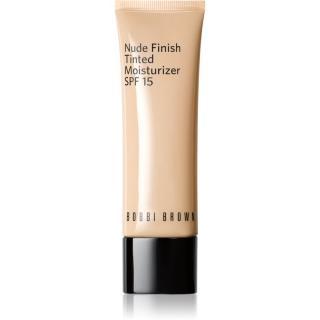 Bobbi Brown Nude Finish Tinted Moisturzier lehký hydratační make-up SPF 15 odstín MEDIUM TO DARK TINT 50 ml dámské 50 ml