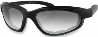 Bobster Fat Boy Adventure Sunglasses Black Photochromic Lenses Clear pánské M