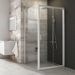 Boční zástěna ke sprchovým dveřím 100x190 cm Ravak Blix chrom matný 9BHA0100Z1 bílá