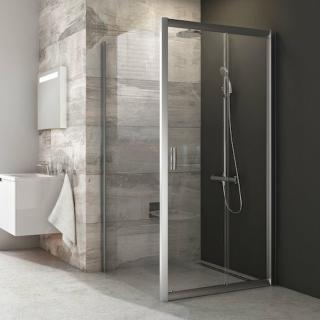 Boční zástěna ke sprchovým dveřím 100x190 cm Ravak Blix chrom matný 9BHA0U00Z1 satin
