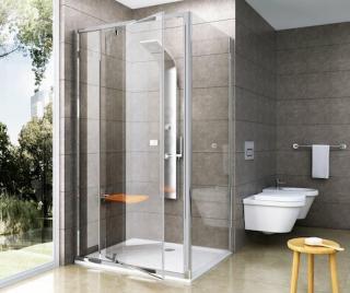 Boční zástěna ke sprchovým dveřím 100x190 cm Ravak Pivot chrom lesklý 90GA0C00Z1