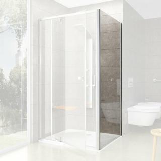 Boční zástěna ke sprchovým dveřím 100x190 cm Ravak Pivot chrom matný 90GA0U00Z1 satin