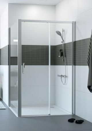 Boční zástěna ke sprchovým dveřím 110x200 cm Huppe Classics 2 chrom lesklý C25406.069.322 chrom chrom