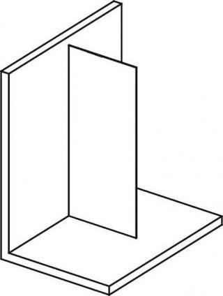 Boční zástěna ke sprchovým dveřím 130x200 cm Polysan MODULAR chrom lesklý MS1-130