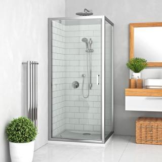 Boční zástěna ke sprchovým dveřím 80x190 cm Roth Lega Line chrom lesklý 553-8000000-00-21 Brillant