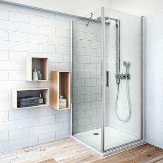 Boční zástěna ke sprchovým dveřím 80x200,8 cm Roth Tower Line chrom matný 725-8000000-01-02 stříbro