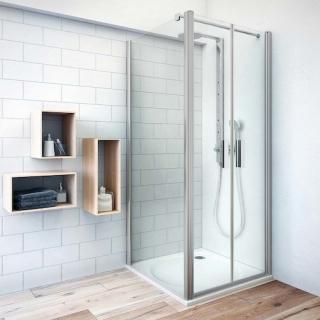 Boční zástěna ke sprchovým dveřím 80x202,5 cm Roth Tower Line chrom matný 741-8000000-01-02 stříbro