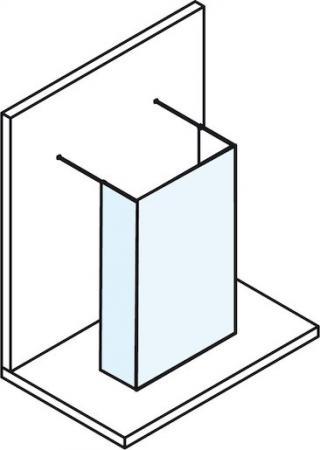 Boční zástěna ke sprchovým dveřím 88x200 cm Polysan MODULAR chrom lesklý MS110B