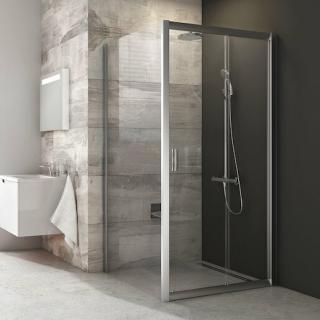 Boční zástěna ke sprchovým dveřím 90x190 cm Ravak Blix chrom matný 9BH70U00Z1 satin