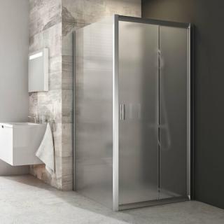 Boční zástěna ke sprchovým dveřím 90x190 cm Ravak Blix chrom matný 9BH70U00ZG satin