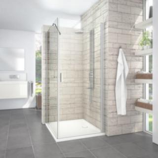 Boční zástěna ke sprchovým dveřím 90x195 cm Roth Limaya Line chrom lesklý 1135008234