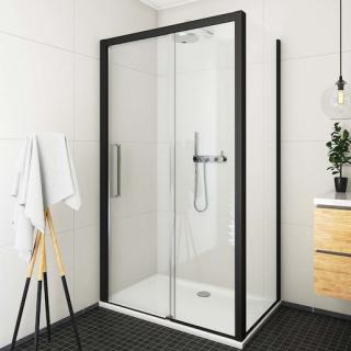 Boční zástěna ke sprchovým dveřím 90x205 cm Roth Exclusive Line černá matná 563-9000000-05-02 černý elox