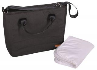 BOMIMI Seba přebalovací taška anthracite melange šedá