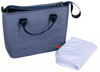 BOMIMI Seba přebalovací taška grey melange šedá