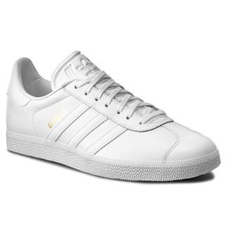 Boty adidas - Gazelle BB5498 Ftwwht/Ftwwht/Goldmt pánské Bílá 46