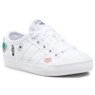 Boty adidas - Nizza C FY3399 Ftwwht/Ftwwht/Ftwwht Bílá 33