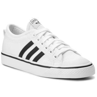 Boty adidas - Nizza CQ2333 Ftwwht/Cblack/Ftwwht Bílá 36