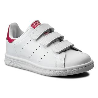 Boty adidas - Stan Smith Cf C B32706 Ftwwht/Ftwwht/Bopink dámské Bílá 34