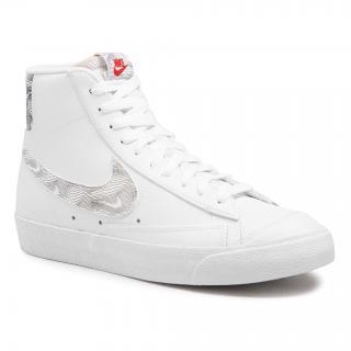 Boty NIKE - Blazer Mid 77 DH3985 100 White/University Red/Black pánské Bílá 41