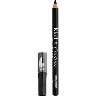 Bourjois Khôl & Contour dlouhotrvající tužka na oči s ořezávátkem odstín 001 Noir-issime 1,2 g dámské 1,2 g