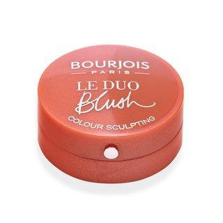 Bourjois Le Duo Blush 02 Romeo et Peachette pudrová tvářenka 2v1 2,4 g