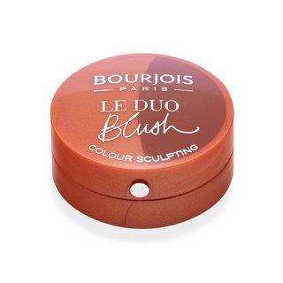 Bourjois Le Duo Blush 03 Caraméli Mélo pudrová tvářenka 2v1 2,4 g