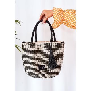 Braided Handbag NOBO XK0380 Black-Beige Other UNIVERZÁLNÍ