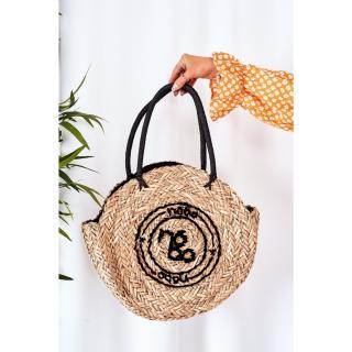 Braided Round Bag NOBO XK0280 Beige Other UNIVERZÁLNÍ