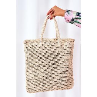 Braided Shopper Bag BRUNO ROSSI Beige Other UNIVERZÁLNÍ