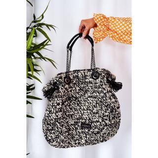 Braided Shopper Bag NOBO XG0010 Black Other UNIVERZÁLNÍ