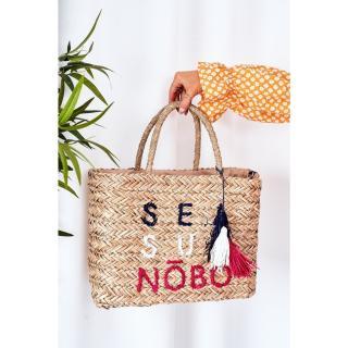 Braided Shopper Beach Bag NOBO XK00410 Beige Other UNIVERZÁLNÍ