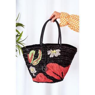 Braided Shopper Beach Bag NOBO XK0300 Black Other UNIVERZÁLNÍ