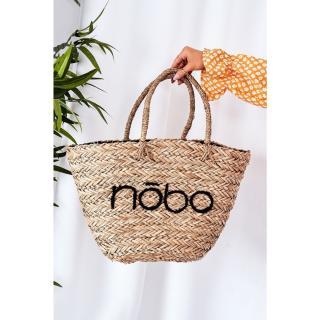 Braided Shopper Beach Bag NOBO XK0340 Beige-Black Other UNIVERZÁLNÍ