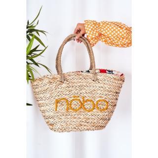 Braided Shopper Beach Bag NOBO XK0340 Beige-Yellow Other UNIVERZÁLNÍ