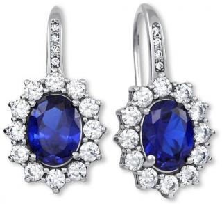 Brilio Silver Překrásné náušnice princezny Kate Middleton 436 001 00478 04 dámské
