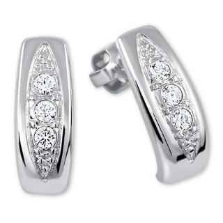 Brilio Silver Překrásné náušnice s krystaly 436 001 00162 04 dámské