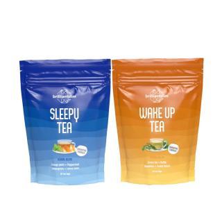 Brilliantslim Wake Up Tea & Sleepy Tea - sada čajů na hubnutí 24/7