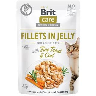 Brit Care Cat Fillets in Jelly with Fine Trout & Cod  85 g