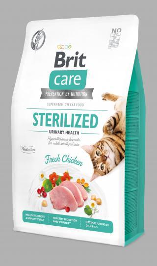 Brit Care Cat Grain-Free Sterilized Urinary Health 2kg